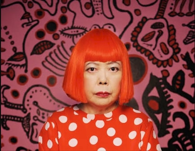 A photo of Yayoi Kusama from Wikipedia, a remarkable artist if probably a little quirky