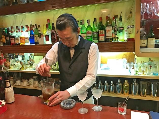Francois's Hiroshima-born world-class bartender