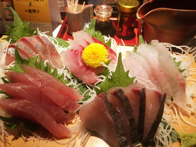 A sashimi platter