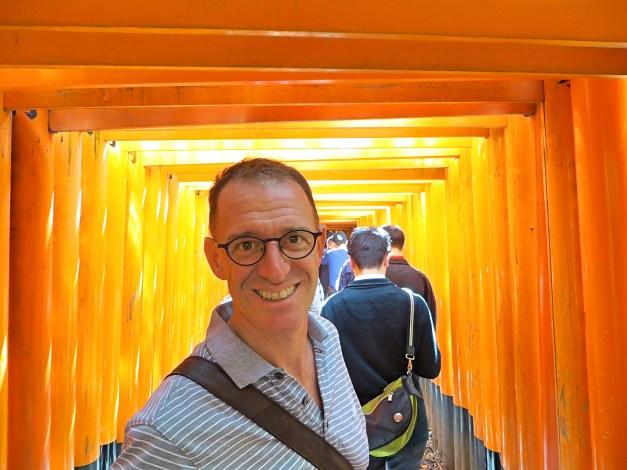 Mark inside just a few of the 10,000 vermilion-hued torii gates of Fushimi Inari-Taisha