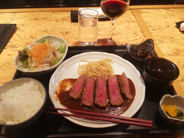 Speaking of food, while you think of Japanese food as sushi and sashimi and other fish dishes, they also have incredible steaks