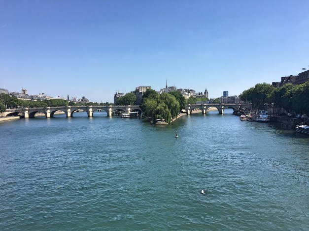 This is what the Seine looks like in the brilliant sunshine of our last two days