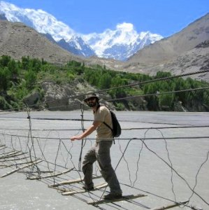 Pakistan Hunza Valley Suspension Bridge