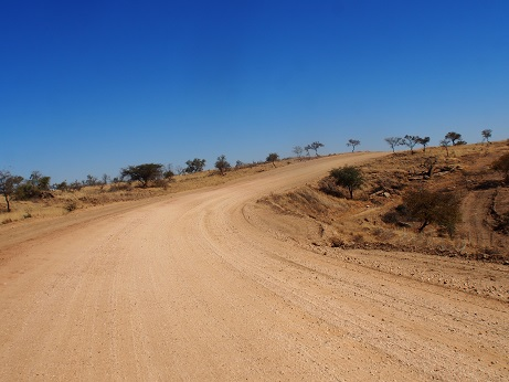 Namibian roads are not for the faint-hearted!