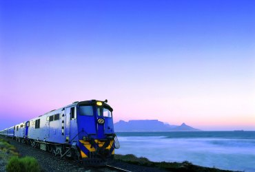 The Blue Train by Table Mountain