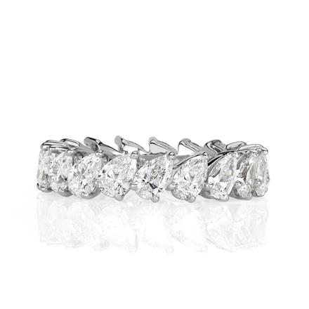 365ct Pear Shaped Diamond Eternity Band In Platinum