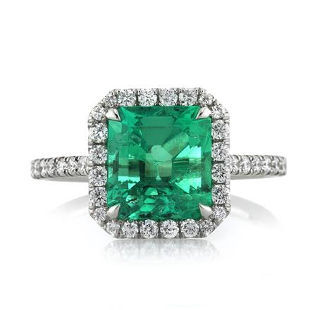 284ct Emerald And Diamond Engagement Ring
