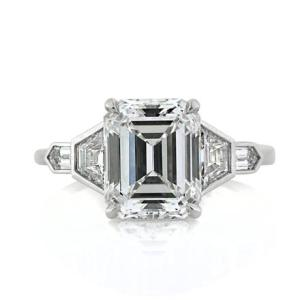 Classic   Vintage Emerald Cut Rings   Mark Broumand   Mark Broumand Blog     both vintage appeal and modern artistic references  This ring is  certain to open eyes  and to inspire a sparkling smile in that one special  someone