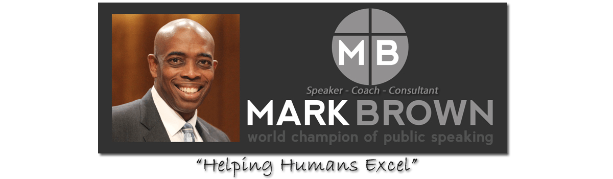 Mark Brown Speaks Logo