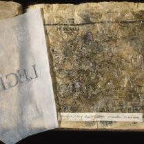 Hopewell Mythos interior page, handmade artists book