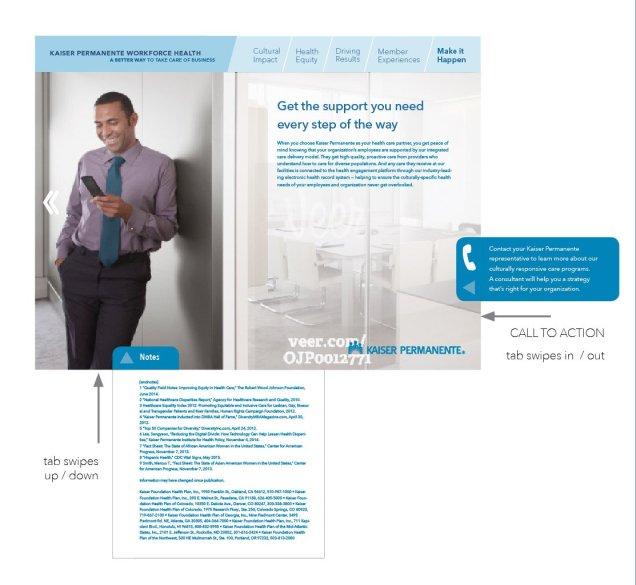 Kaiser Permanente App article prototype, screen 7/7