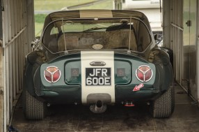 A TVR Sits Quietly in a Trailer in the Thruxton Paddocks