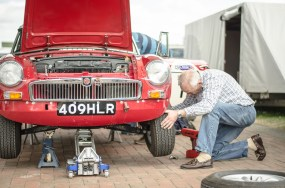 Changing and MGB Wheel
