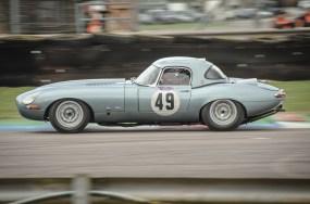 Jaguar etype at Thruxton