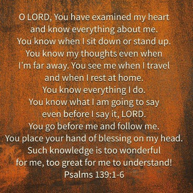 Psalm 139-1-6