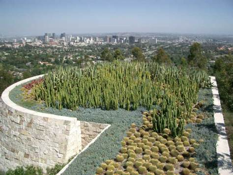 cacti garden at the Getty Center