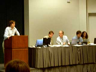Session 2: From Simulation to Interaction. Kurt Squire, Andrew Court, Scott Fisher, Ben Sawyer, and Amy Bruckman