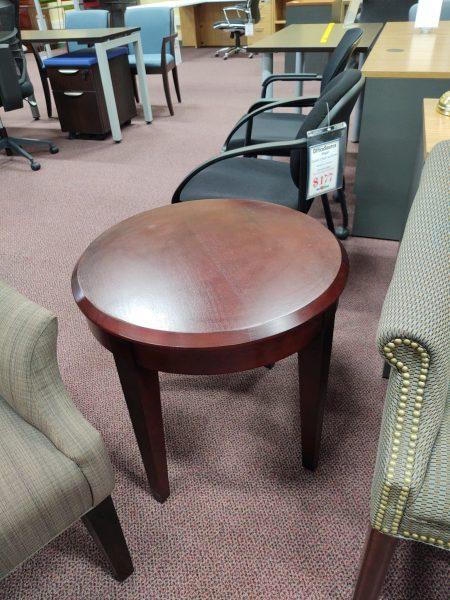 "24"" Round Occasional Table – Wood Veneer"
