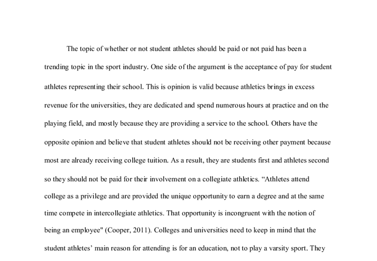 Student athletes should not be paid essay poemsrom co