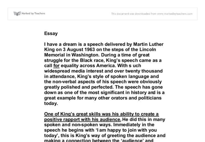 gcse martin luther king essay A short summary of 's martin luther king, jr this free synopsis covers all the crucial plot points of martin luther king, jr.