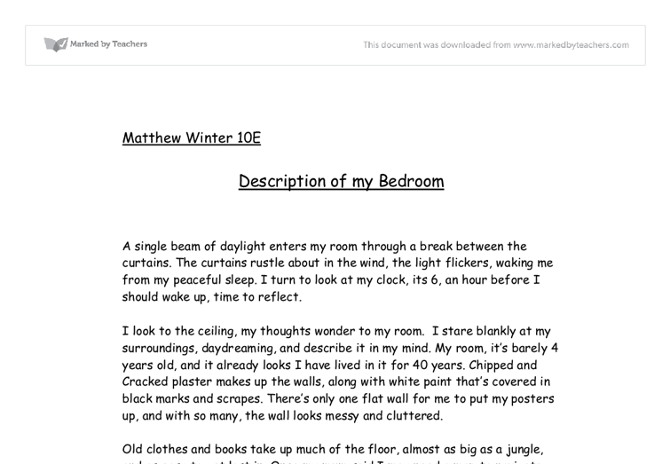 my room essay for class 8