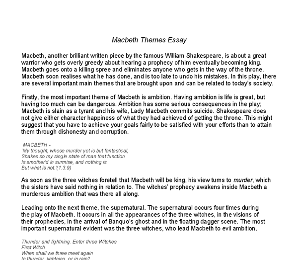 A Good Essay Structure Macbeth Theme Of Ambition Essay Gcse English Marked By Legalization Of Drugs Essay also Essay On Civil War Macbeth Literary Essay On Ambition  Textpoemsorg The Boy In The Striped Pajamas Essay