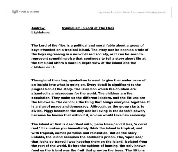 lord of the flies essay questions gcse