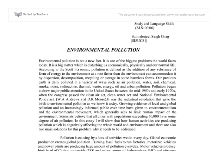 short essay on global warming in simple english