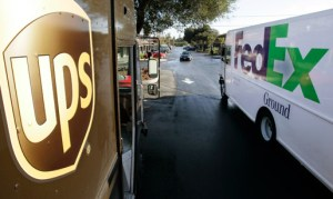 Fedex and UPS trucks