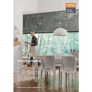 roma Textilscreens-Katalog