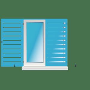 Zargenfensterladen (ZL) (Aluminium)