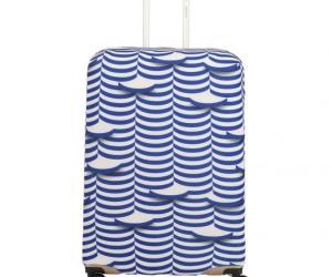 Travelite Accessoire Kofferschutzhülle M – weiß/blau