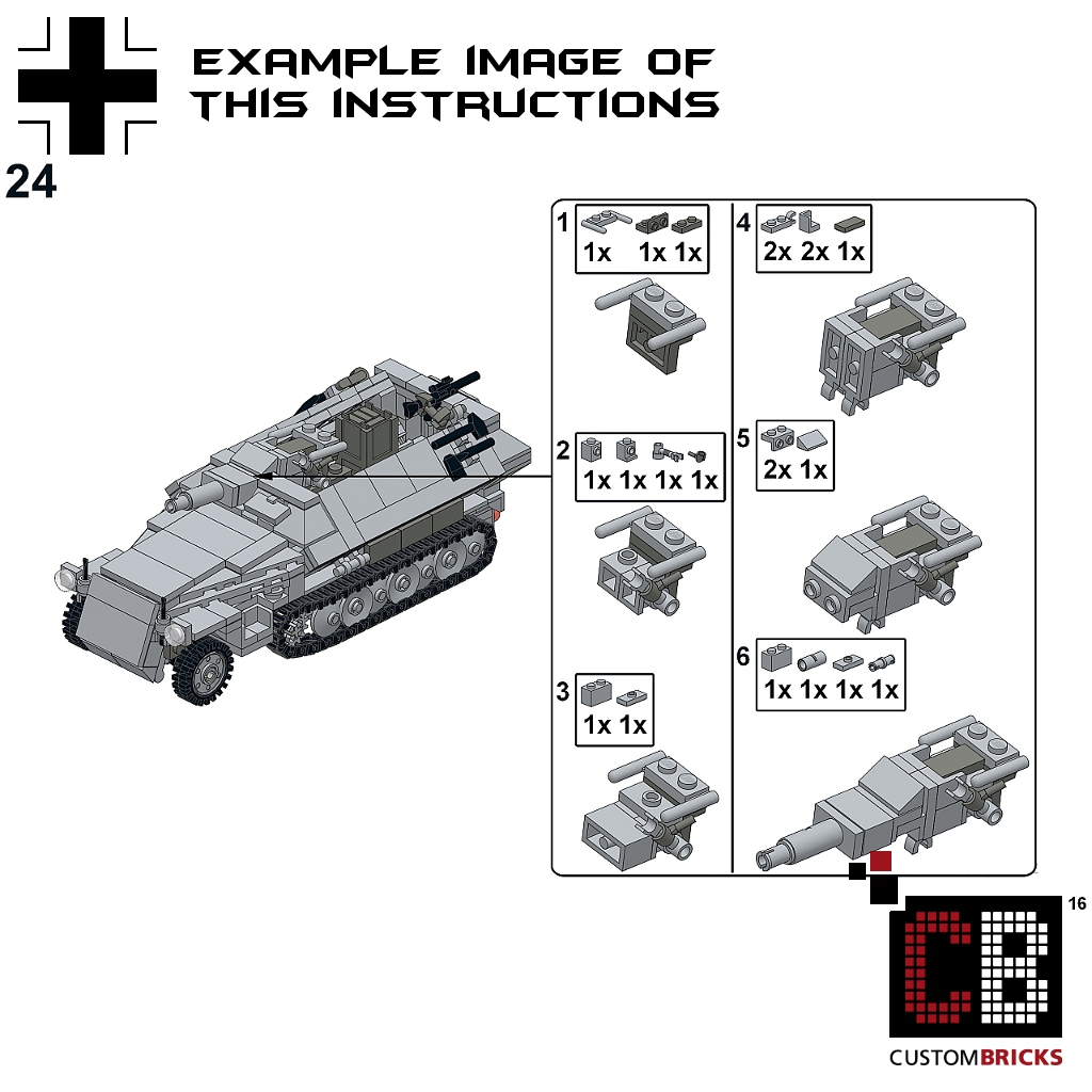 Custom Instruction For Sdkfz 251 9 Ausf C Armored Tank