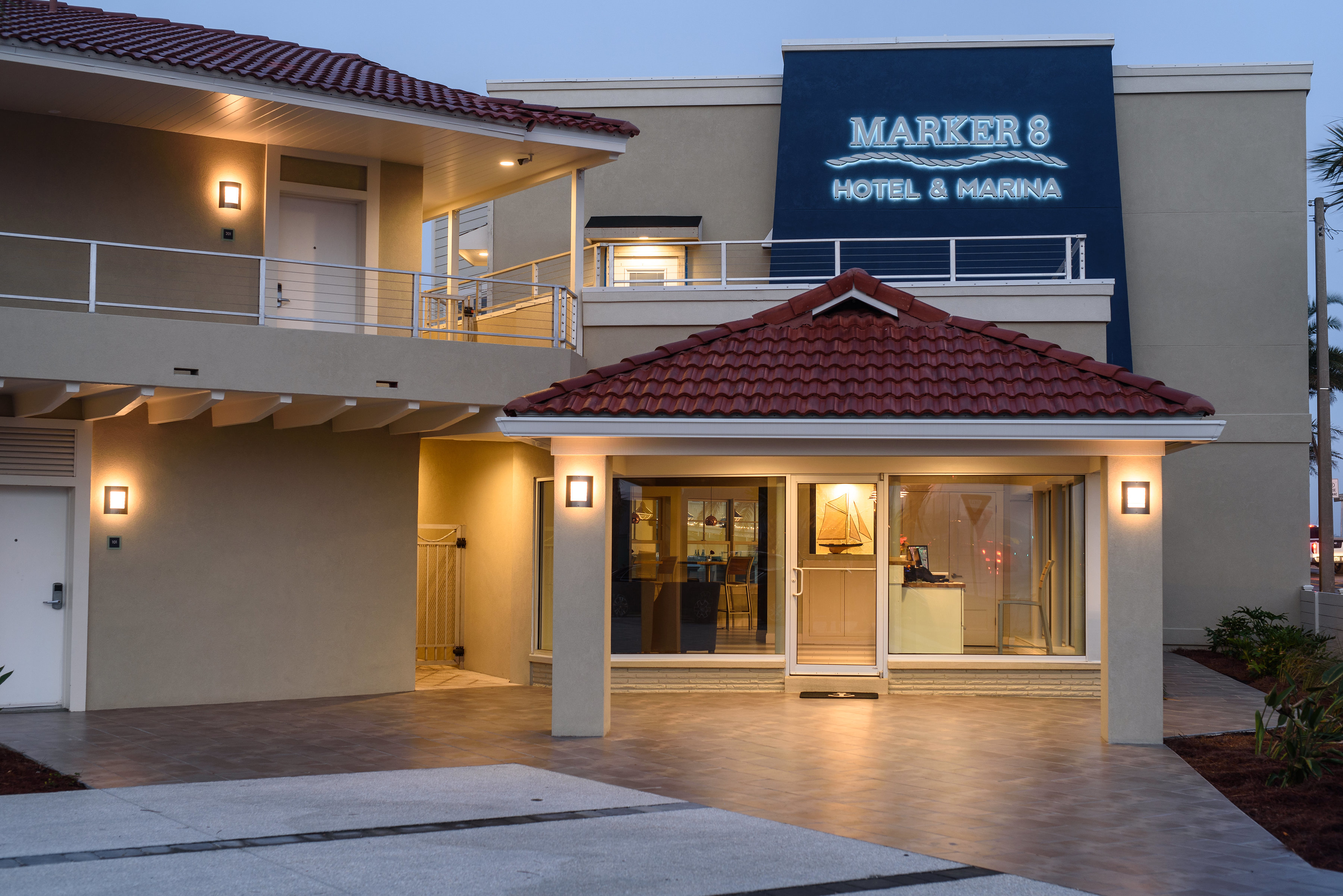 Front lobby Marker 8 Hotel