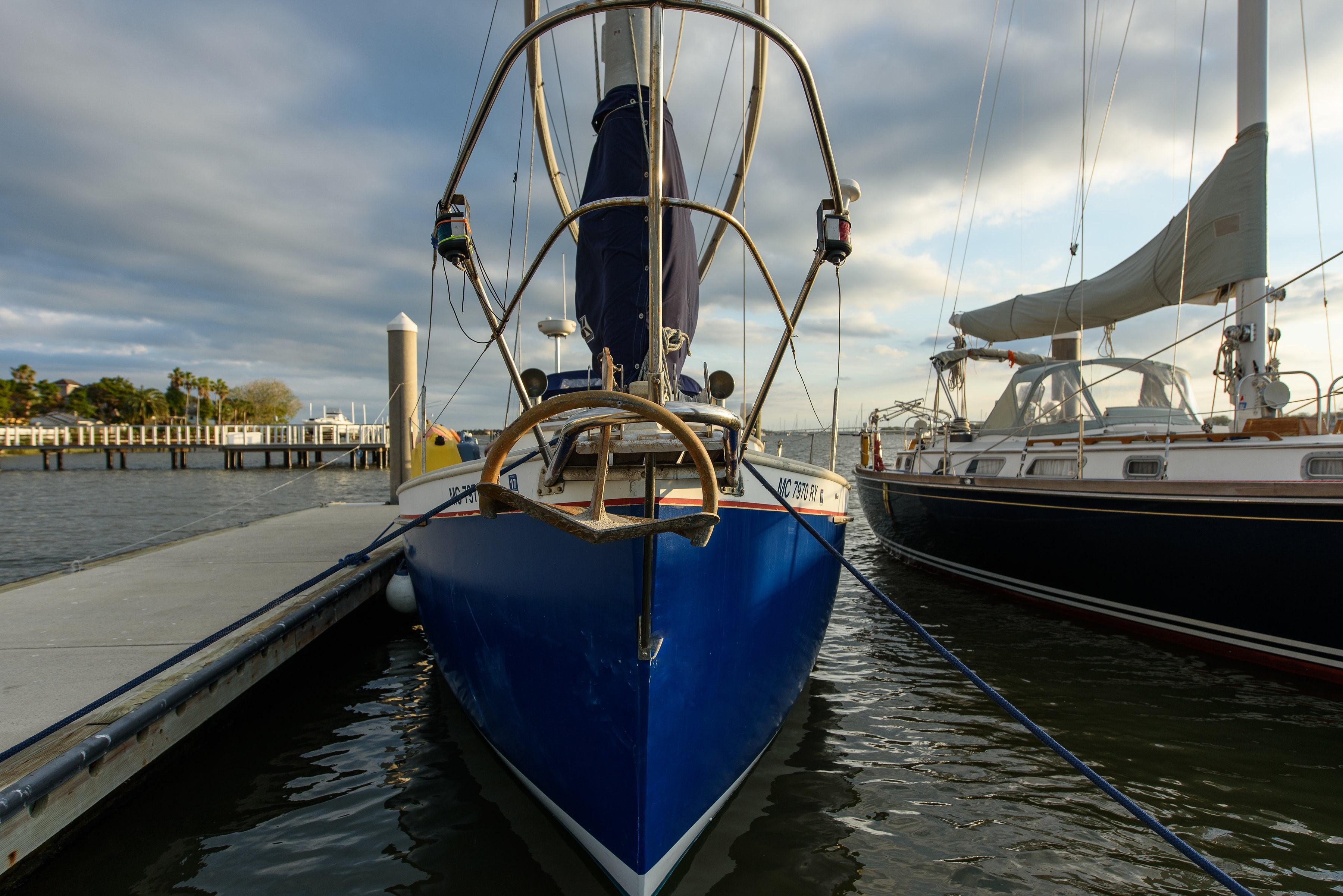 sail boat in marina