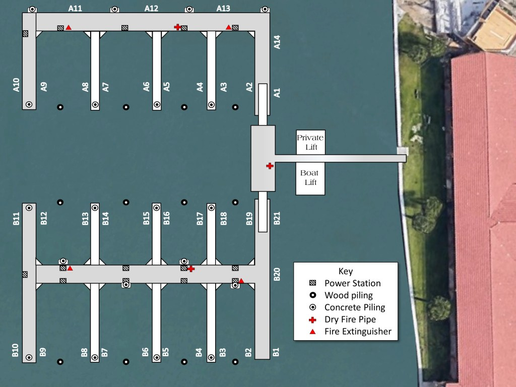 Marker 8 Marina - Dock Layout
