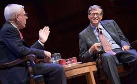 David Rubenstein interviewing Bill Gates