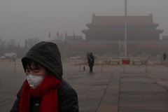 Chinese soil contamination and air pollution.