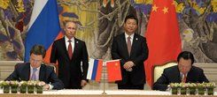 Sino-Russian gas deal signing