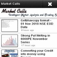 Marketcalls @ Nokia Ovi Store