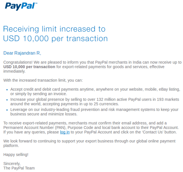 Paypal transaction limit 10000 usd