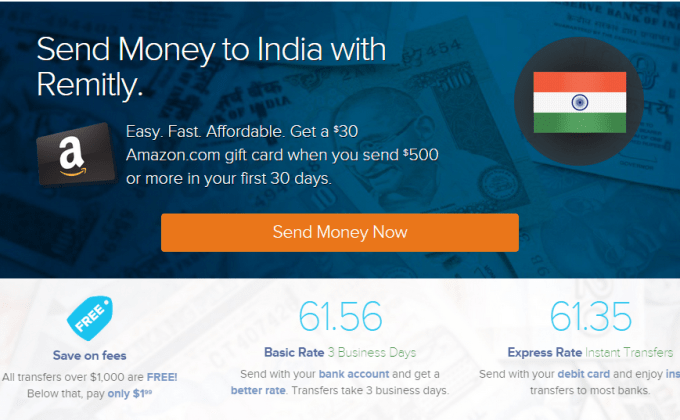 Remitly Transfer Money to India