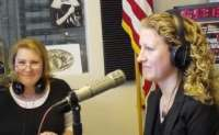 Kathrine Farris on the radio