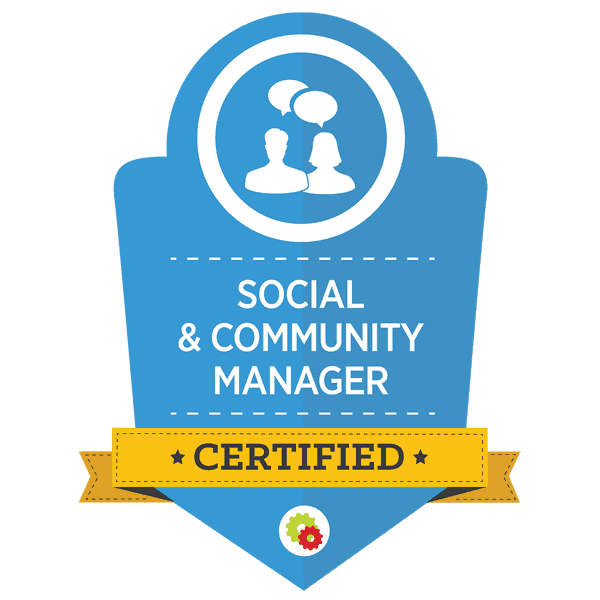 Certified Social Media Manager and Social Community Manager