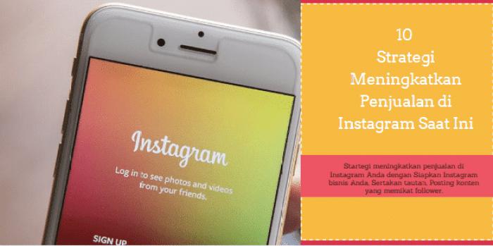 meningkatkan penjualan di Instagram