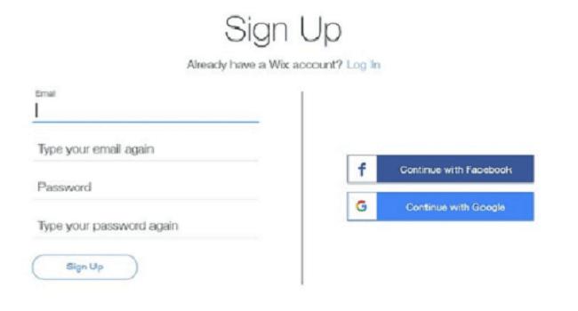 cara membuat situs web menggunakan Wix