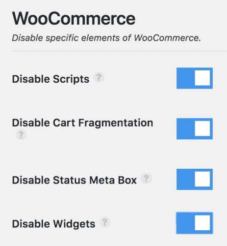 Perfmatters - WooCommerce