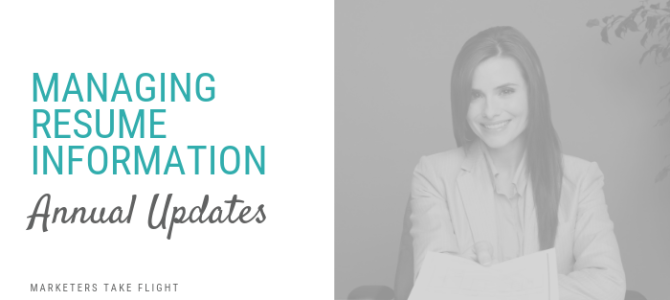 Managing Resume Information: Annual Updates