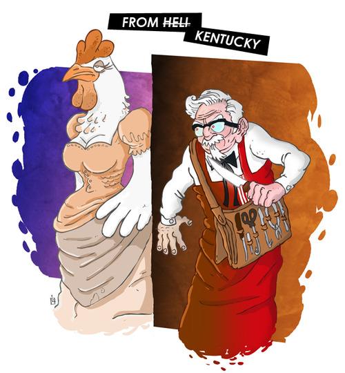Page de Pub KFC
