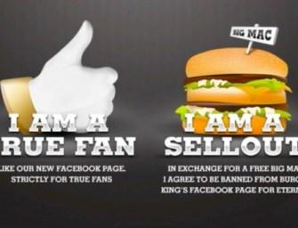 Et si vous testiez la fidélité de vos fans Facebook ? Burger King l'a fait !